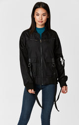 Carmar Denim: CARGO JACKET WITH O-RING TAPE - JACKETS