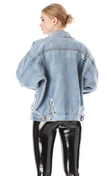 AUDREY CHLOE OVERSIZED DENIM JACKET