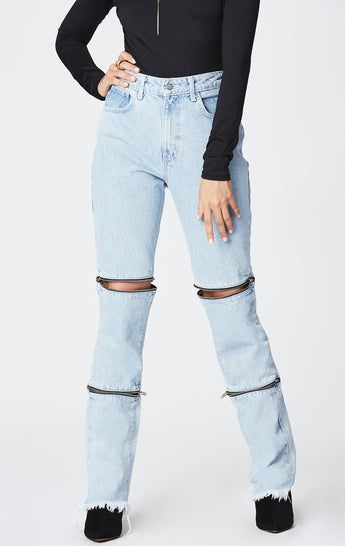AUSA HORIZONTAL DOUBLE ZIP JULIET JEAN