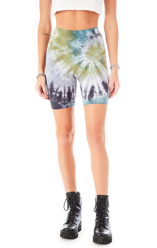 HURRICANE TIE DYE BIKE SHORTS