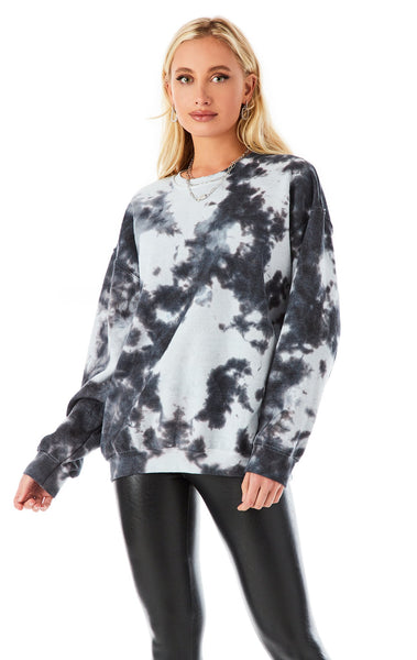 SPLOTCH TIE DYE CREW NECK SWEATSHIRT