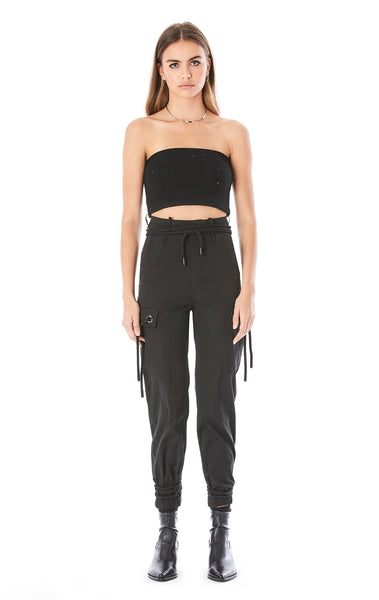 DRAWSTRING CARGO POCKET PANT