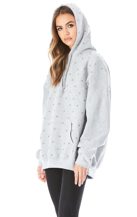 OVERSIZED STUDDED HOODIE