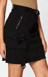 Carmar Denim: BUCKLE BELT CARGO SKIRT - SKIRTS