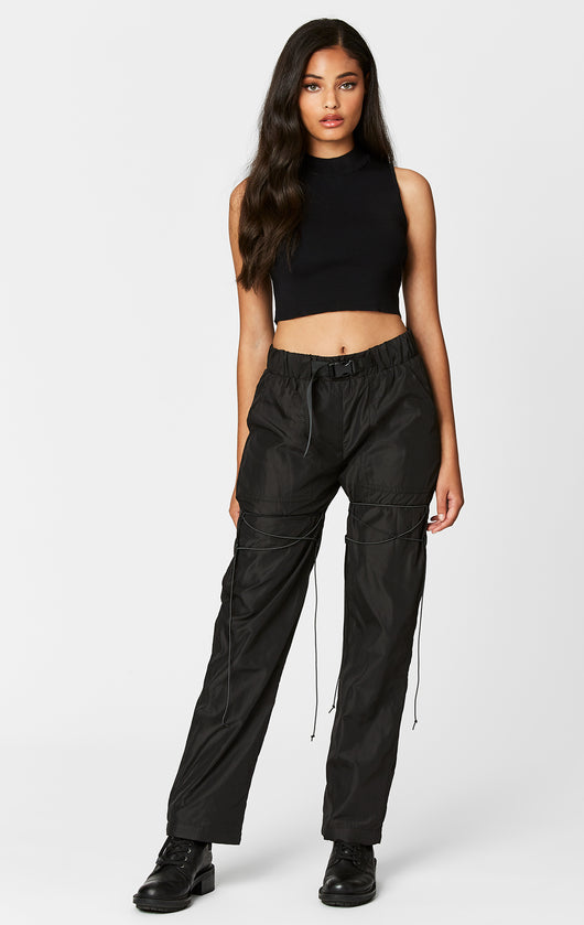 Carmar Denim: BUNGEE CORD LACE UP BUCKLE BELT PANT - PANT