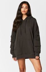 Carmar Denim: DOUBLE CARGO POCKET SLEEVE HOODIE - SWEATSHIRT