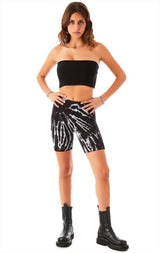 SPIDERWEB TIE DYE BIKE SHORTS