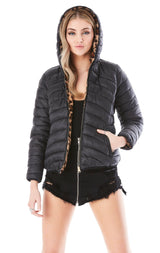 REVERSIBLE PUFFER AND FUR COAT