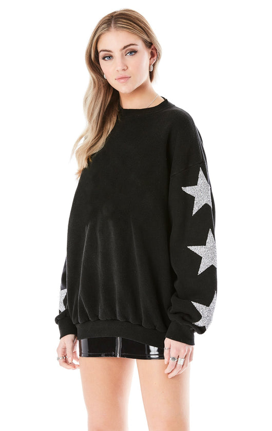 STAR PATCH PULLOVER SWEATSHIRT