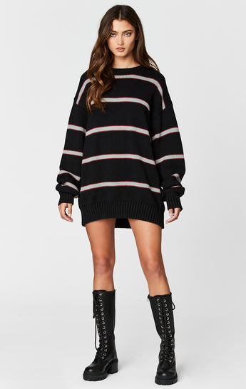 LONG STRIPE PULLOVER SWEATER