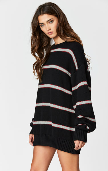 Carmar Denim: LONG STRIPE PULLOVER SWEATER - SWEATER