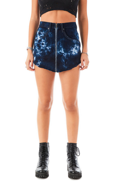 BEATRICE WATERMARK TIE DYE DENIM SKIRT