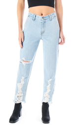 RHEA SERENA LOWER LEG SHREDDING JEAN