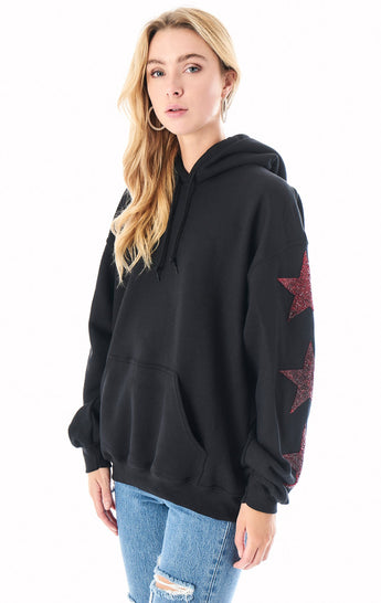 OVERSIZED RED STAR PATCH HOODIE