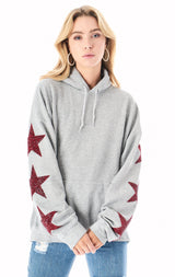 OVERSIZED STAR PATCH HOODIE