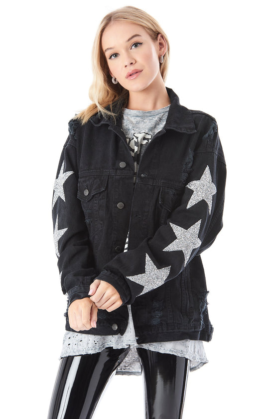 AUDREY STAR PATCH DENIM JACKET