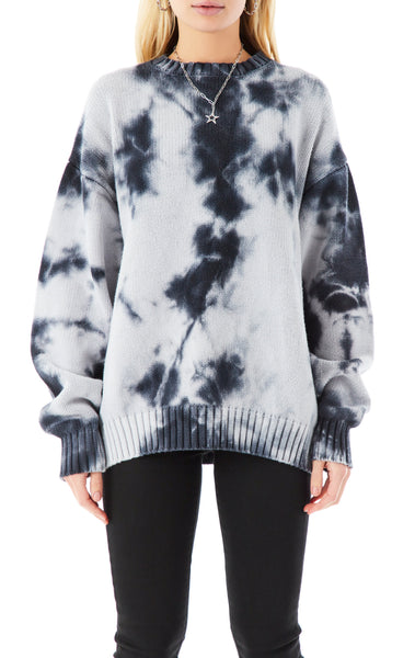 OVERSIZED CRYSTAL TIE DYE SWEATER