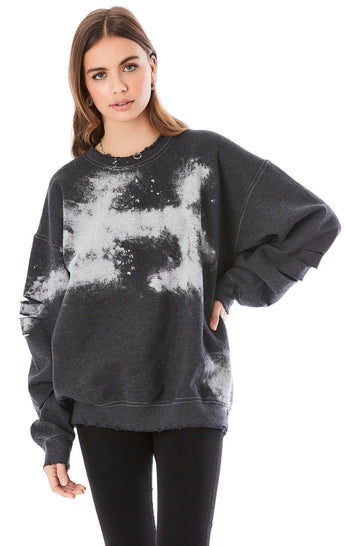 BLEACH DYE SWEATSHIRT