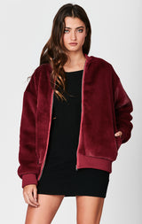 Carmar Denim: FUR BOMBER JACKET - JACKETS