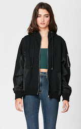 Carmar Denim: CONTRAST HOODED ZIP JACKET - JACKETS