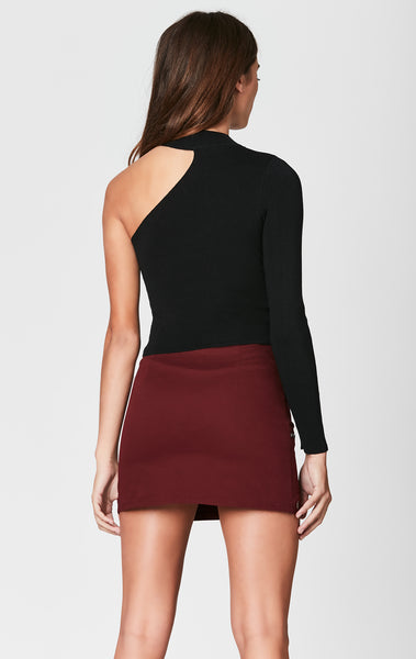 CUT OUT SHOULDER SWEATER