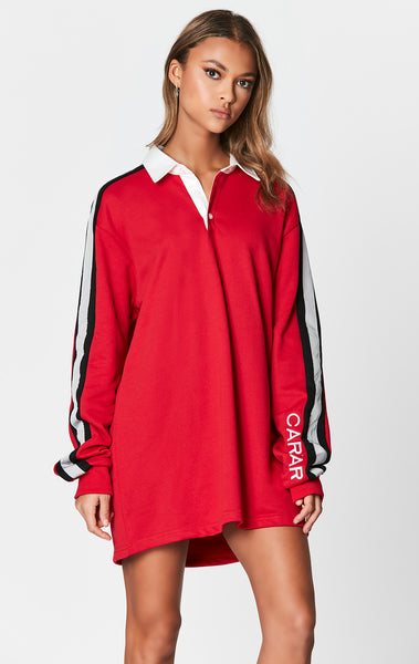 OVERSIZED RUGBY SHIRT WITH EMBROIDERY