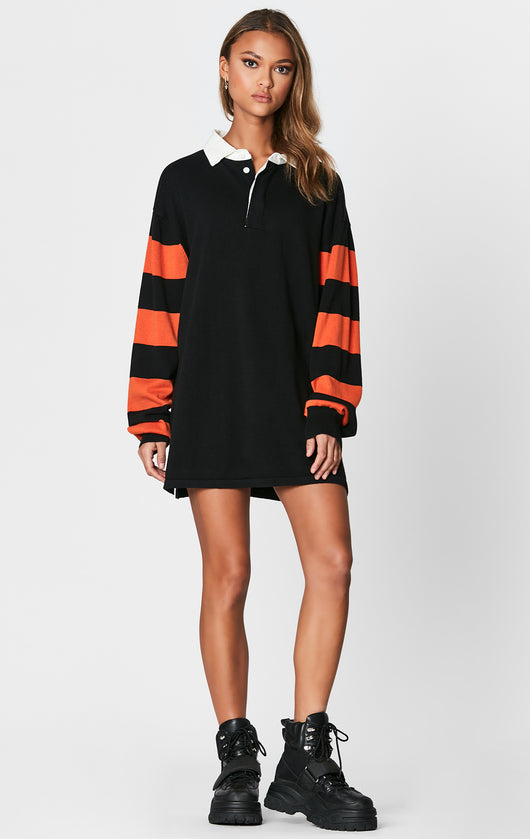 RUGBY SHIRT WITH STRIPED CONTRAST SLEEVE