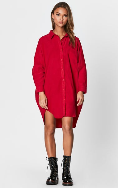 OVERSIZED CORDUROY DRESS SHIRT