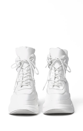 Carmar Denim: JEFFREY CAMPBELL DA BRAT PLATFORM HIGH TOP SNEAKER - SHOES