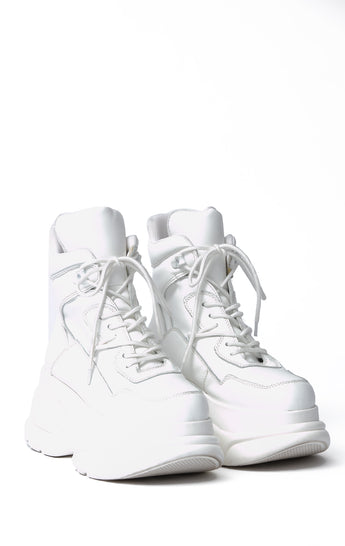 JEFFREY CAMPBELL DA BRAT PLATFORM HIGH TOP SNEAKER
