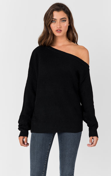 Carmar Denim: ONE SHOULDER SWEATER - SWEATER