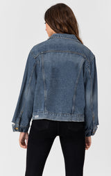 Carmar Denim: CORVUS GRIFFITH GRINDED DENIM JACKET - JACKETS
