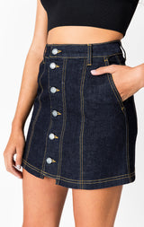 Carmar Denim: MARKAB LAUNCE BUTTON FRONT SKIRT - SKIRTS