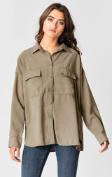 Carmar Denim: CARGO POCKET SHIRT - WOVEN TOP