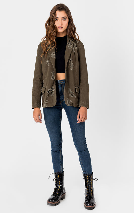 Carmar Denim: BOYFRIEND STONEWASHED JACKET - JACKETS