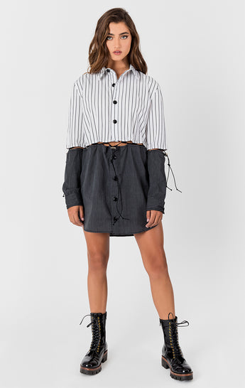 Carmar Denim: SPLIT SHIRT DRESS - WOVEN TOP