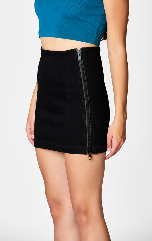 Carmar Denim: MARGERY DOUBLE SIDE ZIP SKIRT - SKIRTS