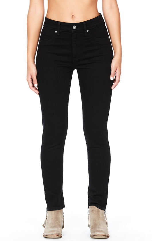 Carmar Denim: BLACK HIGH RISE SKINNY JEAN - JEANS