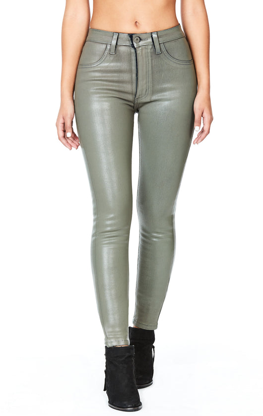 TAUPE WAX HIGH RISE JEAN