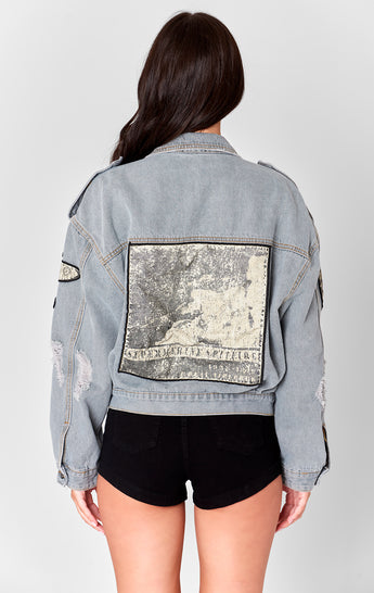 PATCHED PILOT DENIM JACKET