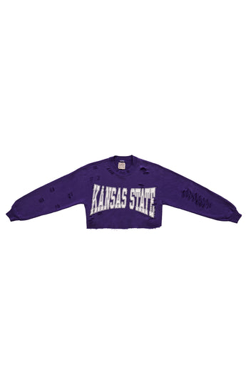 CROP COLLEGE SWEATSHIRT