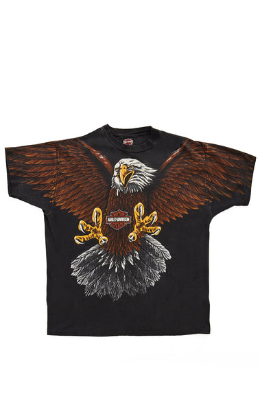 Carmar Denim: 90s EAGLE DOUBLE GRAPHIC HARLEY TEE - VINTAGE TEE