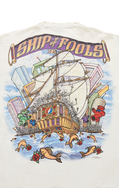 90S SHIP OF FOOLS GRATEFUL DEAD DOUBLE GRAPHIC VINTAGE TEE