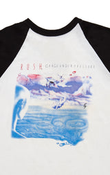 Carmar Denim: 80S GRACIE UNDER PRESSURE TOUR RUSH DOUBLE GRAPHIC TEE - VINTAGE TEE