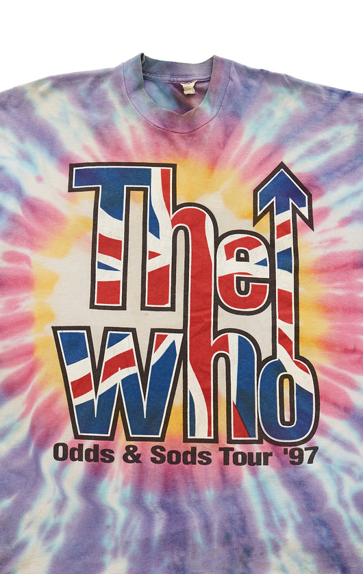 Carmar Denim: 90S THE WHO ODDS & SODS TOUR TIE DYE VINTAGE TEE - VINTAGE TEE