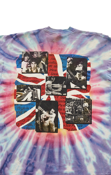 90S THE WHO ODDS & SODS TOUR TIE DYE VINTAGE TEE