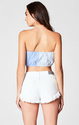 Carmar Denim: WHITE MOGAN CHEEKY SHORT - SHORTS