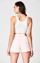 Carmar Denim: PINK PARIS HIGH RISE SHORTS - SHORTS