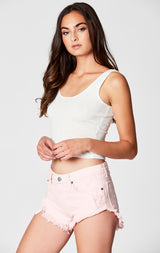 Carmar Denim: PINK MOGAN CHEEKY SHORT - SHORTS