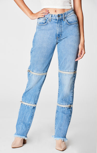 PEYTON HORIZONTAL DOUBLE ZIP JULIET JEAN